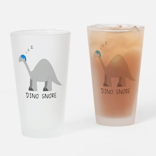 Dino Snore Drinking Glass