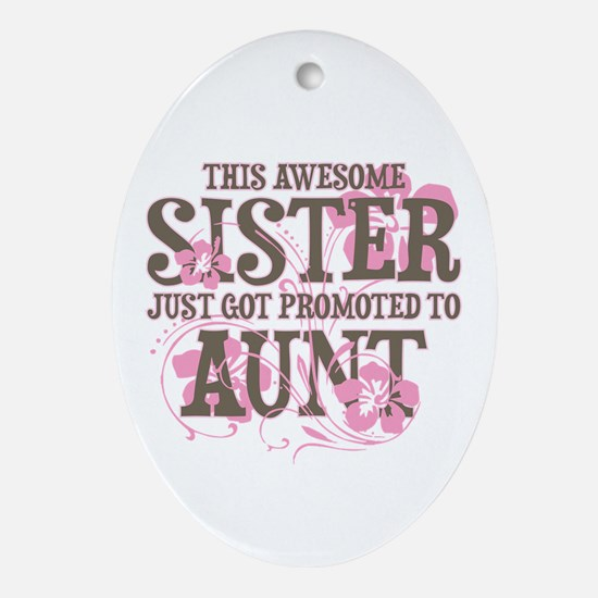 Promoted Aunt Ornament (Oval)