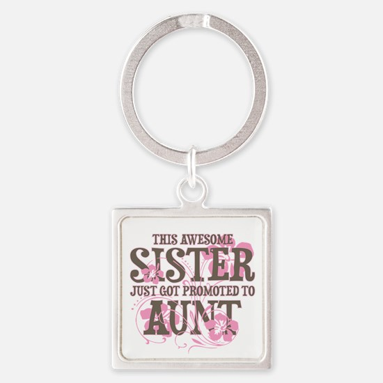 Promoted Aunt Square Keychain