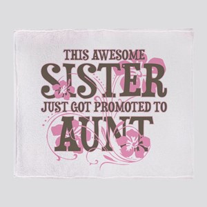 Promoted Aunt Throw Blanket