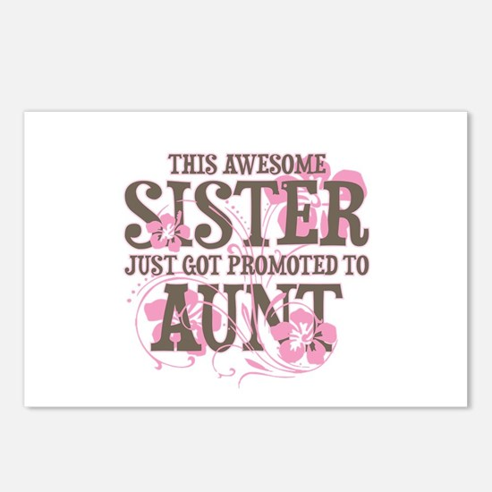 Promoted Aunt Postcards (Package of 8)