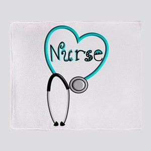 Nurse BLUE STETHO Throw Blanket