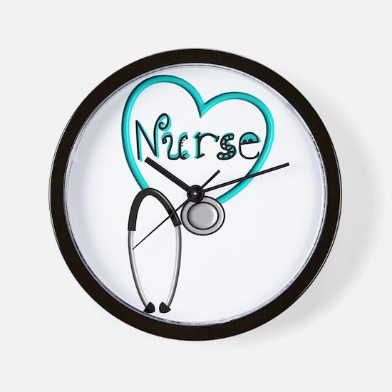Nurse BLUE STETHO Wall Clock