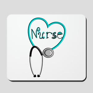 Nurse BLUE STETHO Mousepad