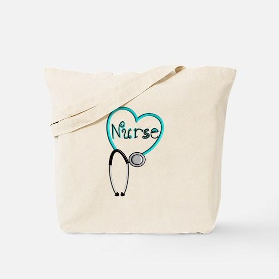 Nurse BLUE STETHO Tote Bag