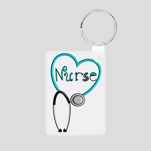 Nurse BLUE STETHO Keychains