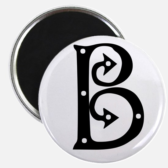 "Anglo Saxon Monogram B 2.25"" Magnet (10 pack)"