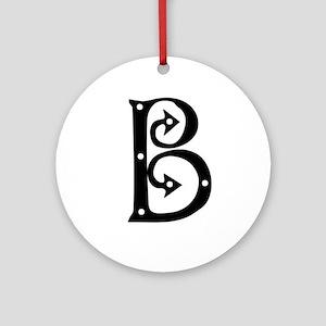 Anglo Saxon Monogram B Ornament (Round)