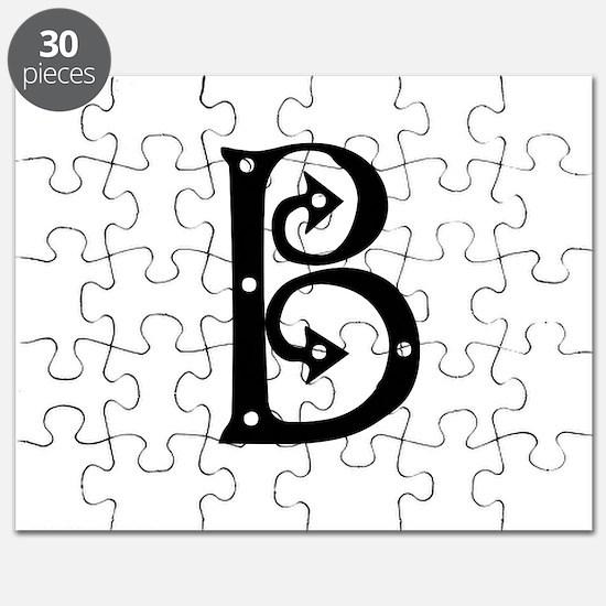 Anglo Saxon Monogram B Puzzle