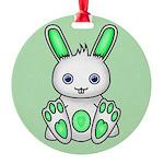 Kawaii Mint Green Bunny Ornament