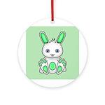 Kawaii Mint Green Bunny Ornament (Round)