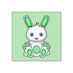 Kawaii Mint Green Bunny Sticker