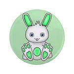 """Kawaii Mint Green Bunny 3.5"""" Button (100 pack"""