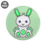 """Kawaii Mint Green Bunny 3.5"""" Button (10 pack)"""