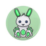 "Kawaii Mint Green Bunny 3.5"" Button"