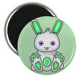 "Kawaii Mint Green Bunny 2.25"" Magnet (100 pac"