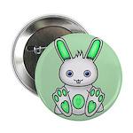 """Kawaii Mint Green Bunny 2.25"""" Button (100 pac"""