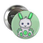 "Kawaii Mint Green Bunny 2.25"" Button"