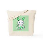Kawaii Mint Green Bunny Tote Bag