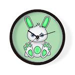 Kawaii Mint Green Bunny Wall Clock
