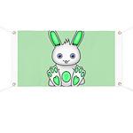 Kawaii Mint Green Bunny Banner