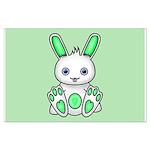 Kawaii Mint Green Bunny Posters
