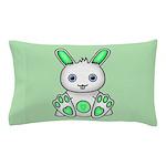 Kawaii Mint Green Bunny Pillow Case