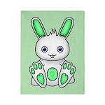 Kawaii Mint Green Bunny Twin Duvet