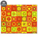 Yellow Orange Hippie Flower Puzzle