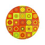 Yellow Orange Hippie Flower 3.5