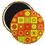 Yellow Orange Hippie Flower Magnet