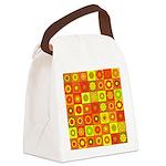 Yellow Orange Hippie Flower Canvas Lunch Bag