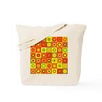 Yellow Orange Hippie Flower Tote Bag