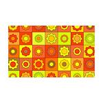 Yellow Orange Hippie Flower 35x21 Wall Decal