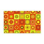 Yellow Orange Hippie Flower 20x12 Wall Decal