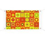 Yellow Orange Hippie Flower Banner