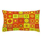 Yellow Orange Hippie Flower Pillow Case