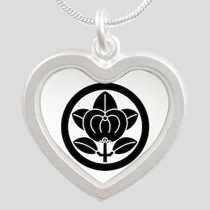 Hikone mandarin orange Silver Heart Necklace