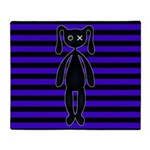 Goth Purple and Black Bunny Throw Blanket