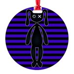Goth Purple and Black Bunny Ornament