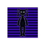 Goth Purple and Black Bunny Sticker