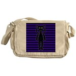 Goth Purple and Black Bunny Messenger Bag