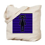 Goth Purple and Black Bunny Tote Bag