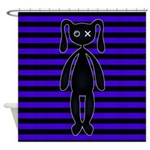 Goth Purple and Black Bunny Shower Curtain