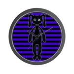 Goth Purple and Black Bunny Wall Clock