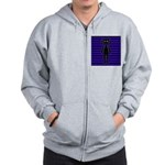 Goth Purple and Black Bunny Zip Hoodie