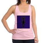 Goth Purple and Black Bunny Racerback Tank Top
