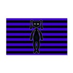 Goth Purple and Black Bunny Wall Decal