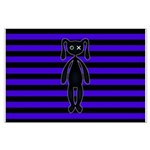Goth Purple and Black Bunny Posters
