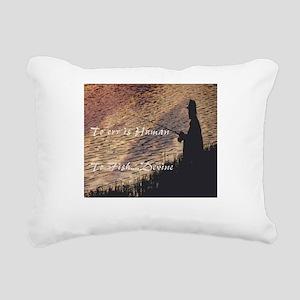 To err is human Rectangular Canvas Pillow